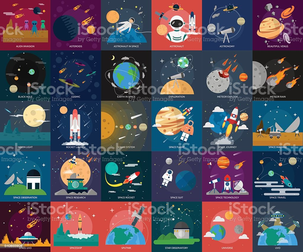 Space and Universe vector art illustration