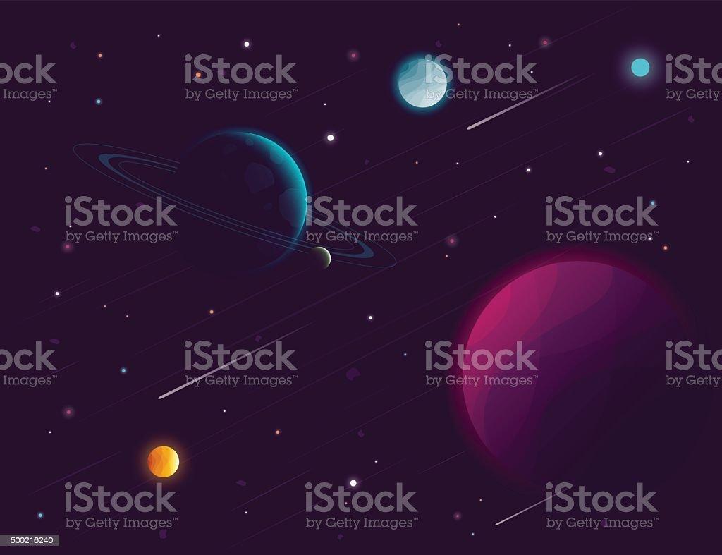 Space background. Vector illustration vector art illustration