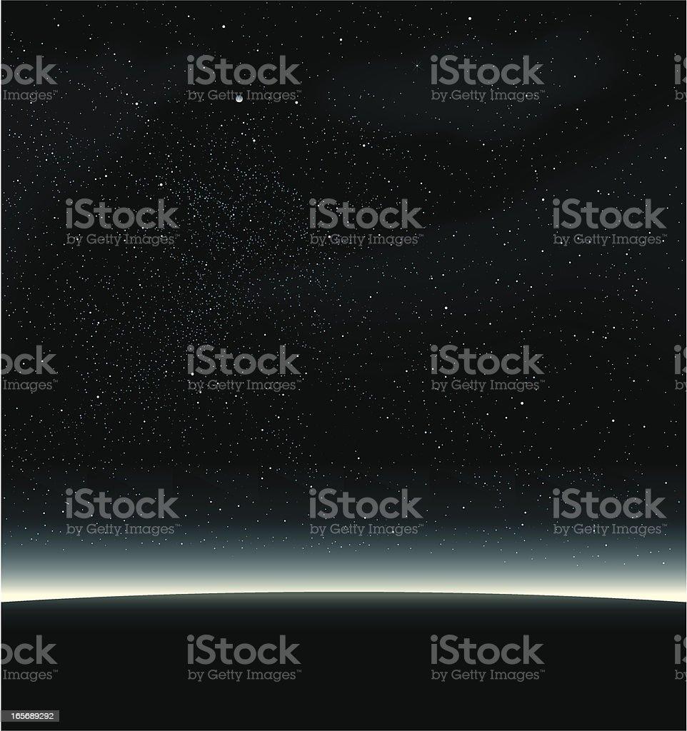 Space black vector art illustration