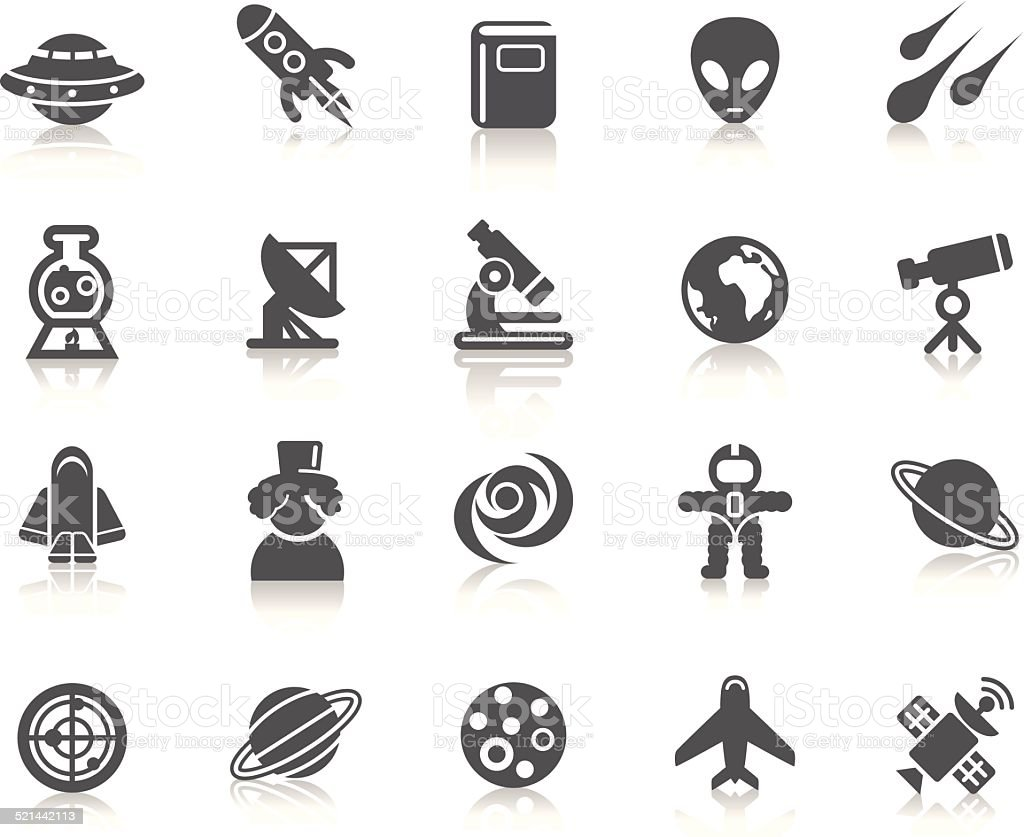Space Element Icons vector art illustration