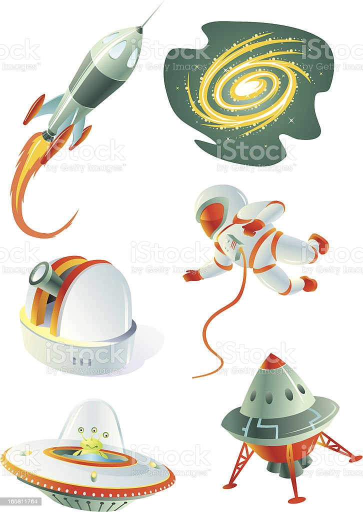 Space Exploration Set royalty-free stock vector art