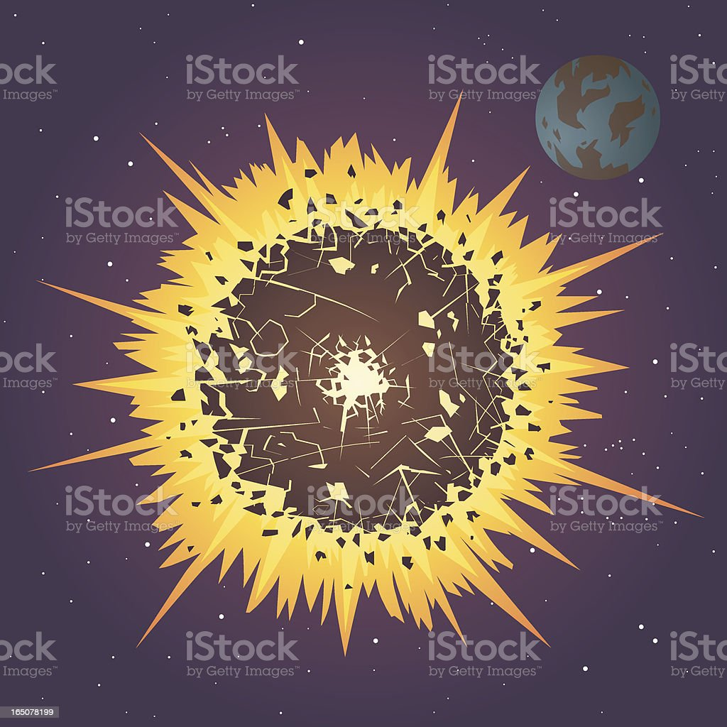 Space Explosion vector art illustration