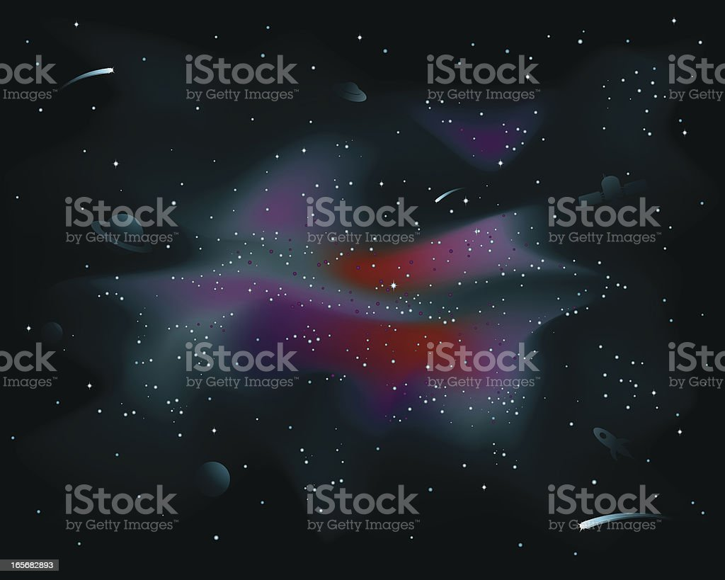 Space Galaxy royalty-free stock vector art