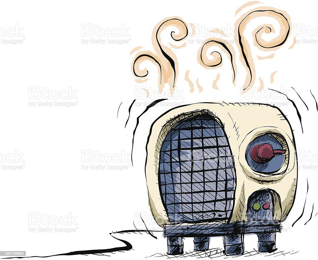 Space Heater vector art illustration
