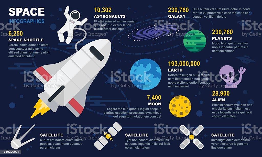 Space Infographics vector art illustration