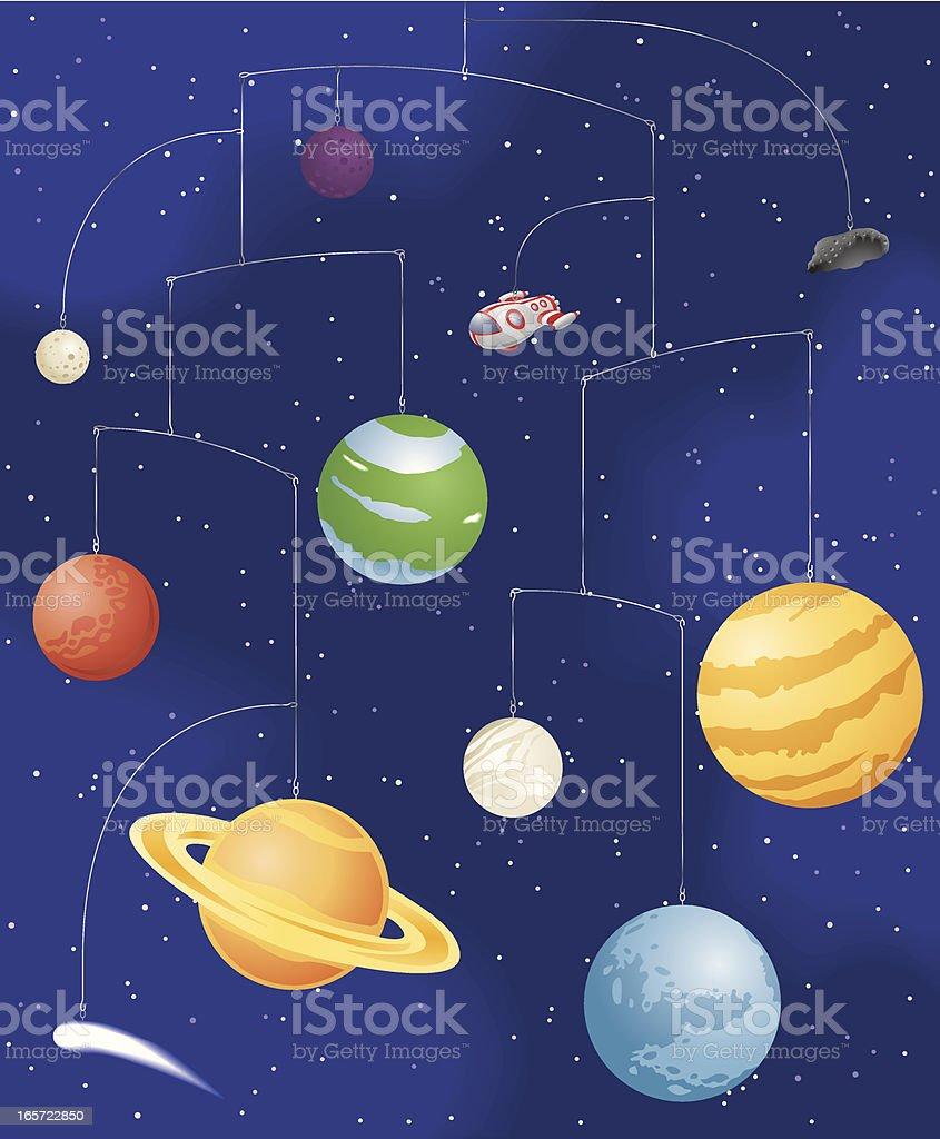 Space Mobile vector art illustration