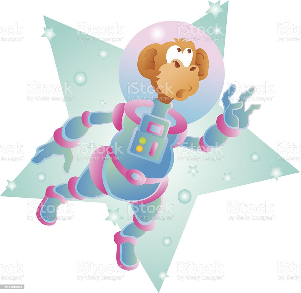 space monkey royalty-free stock vector art