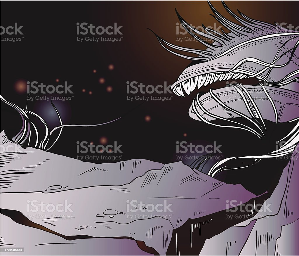 Space monster for deserted planet royalty-free stock vector art