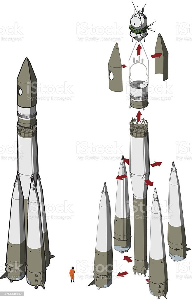 Space Rocket infographics vector art illustration