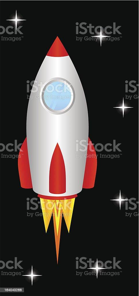 Space rocket. royalty-free stock vector art