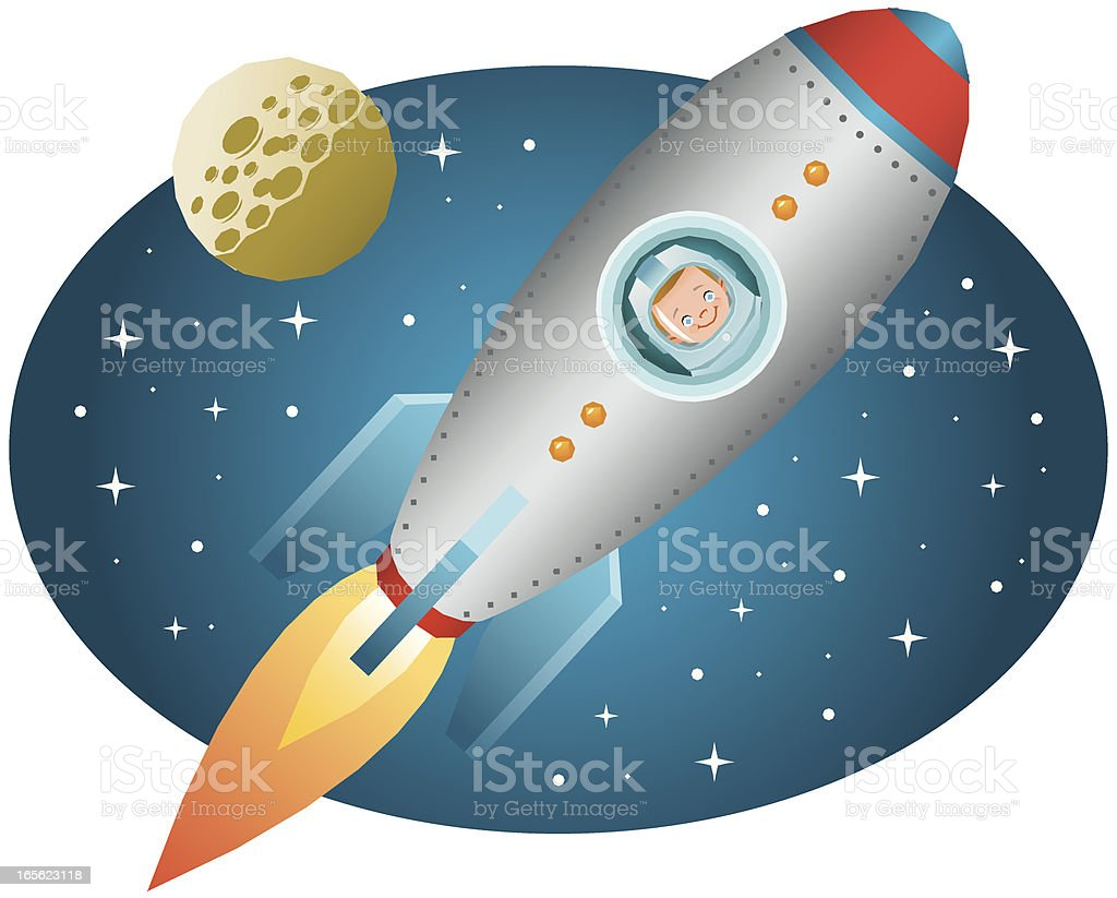 Space rocket royalty-free stock vector art