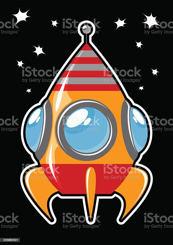 space rocket vector art illustration