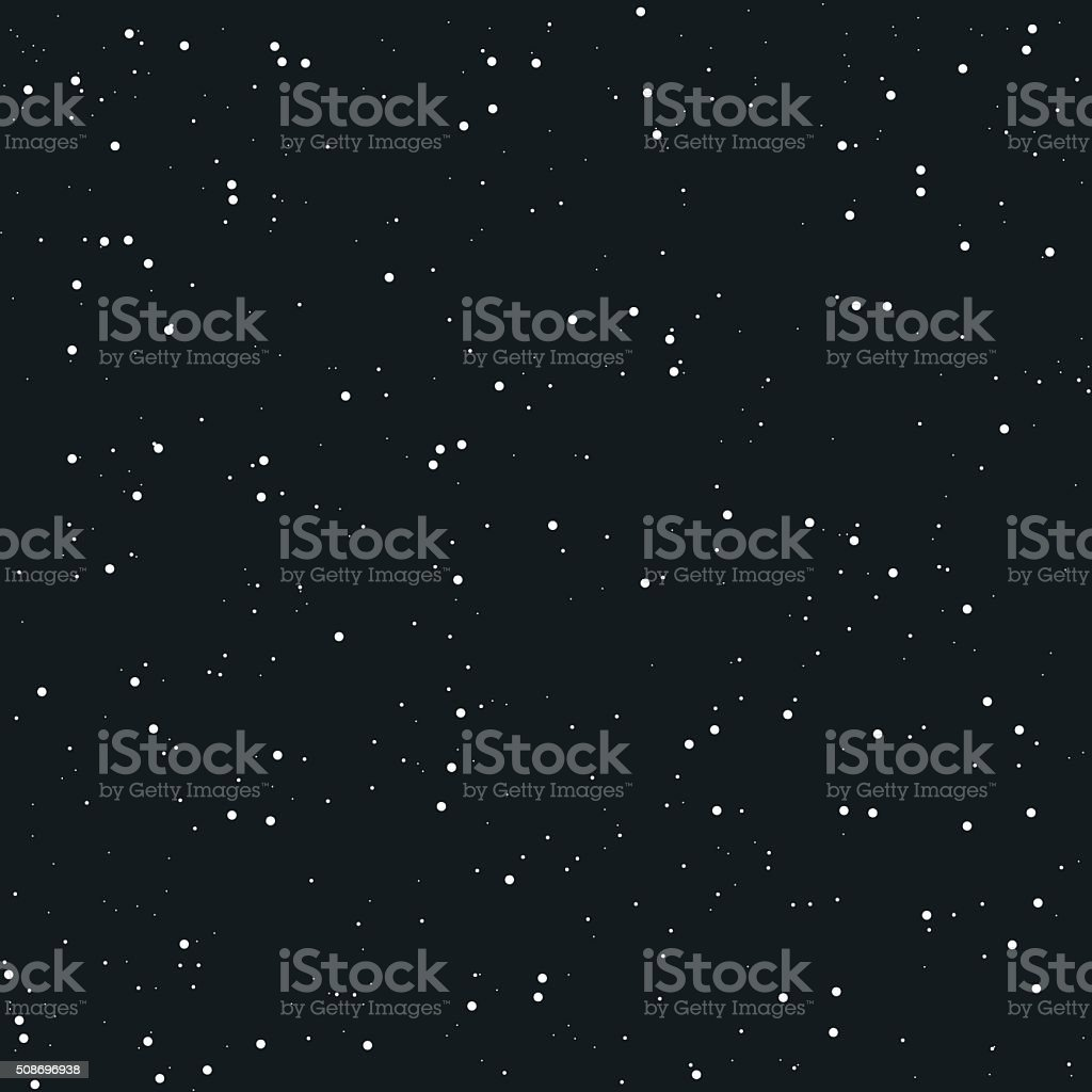 Space seamless background vector art illustration