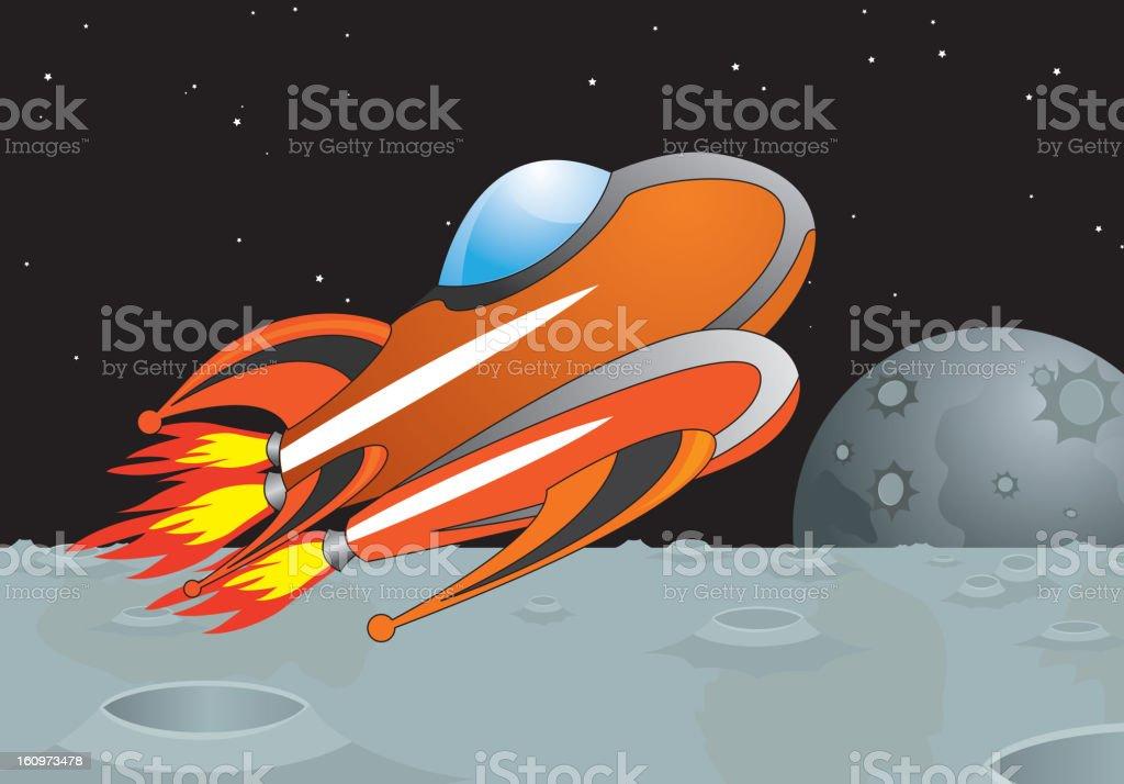 space ship royalty-free stock vector art