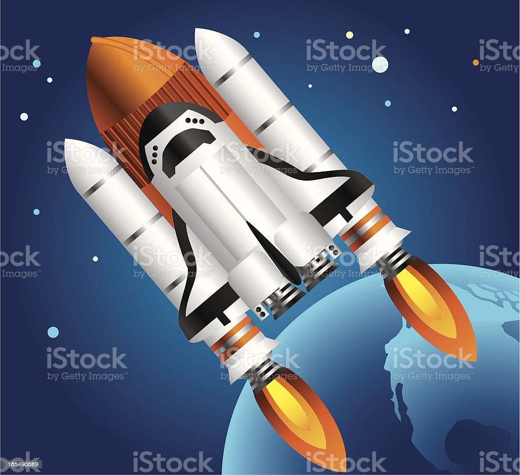 Space shuttle royalty-free stock vector art