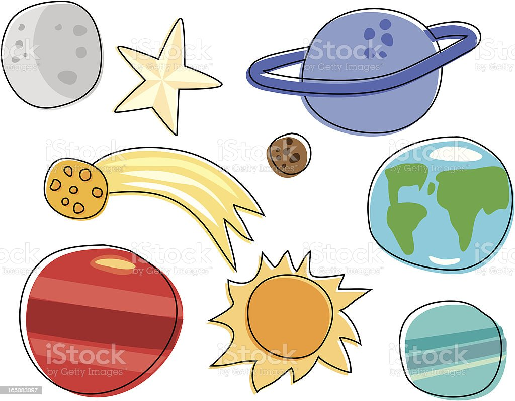 Space Sketchy royalty-free stock vector art