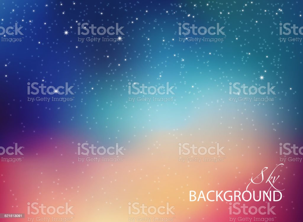 Space with stars vector art illustration