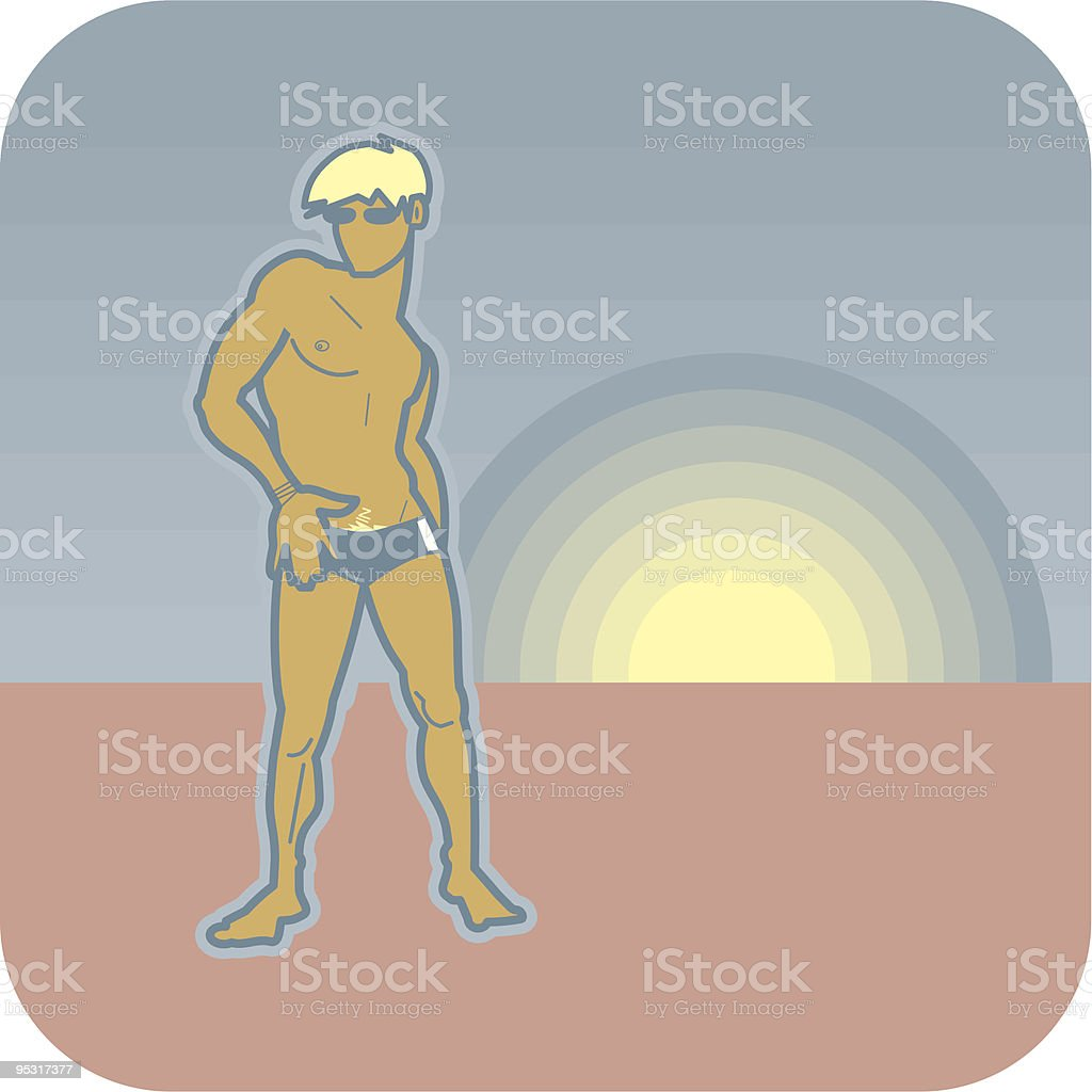 spaceboys beach lover royalty-free stock vector art
