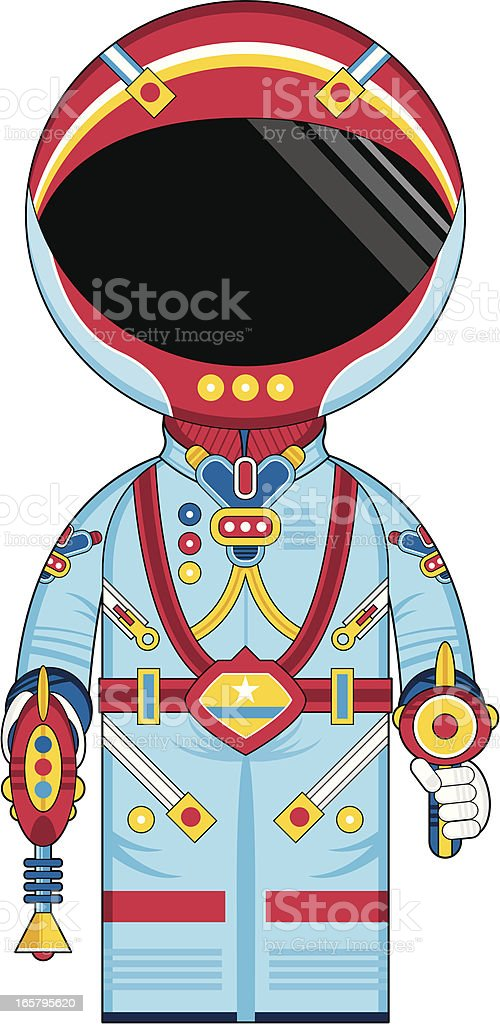 Spaceman with Rayguns vector art illustration