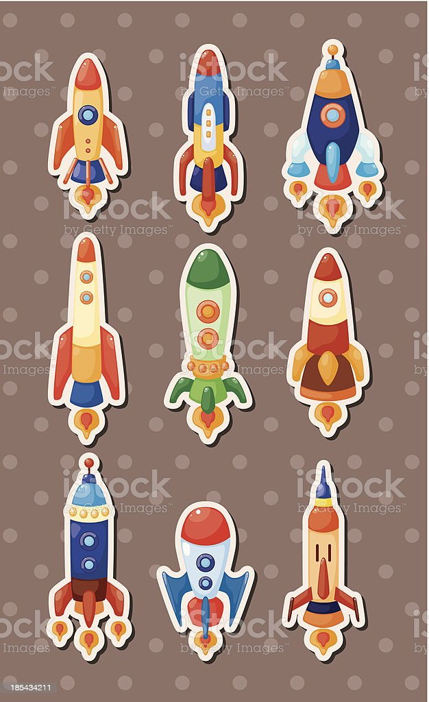 spaceship stickers royalty-free stock vector art