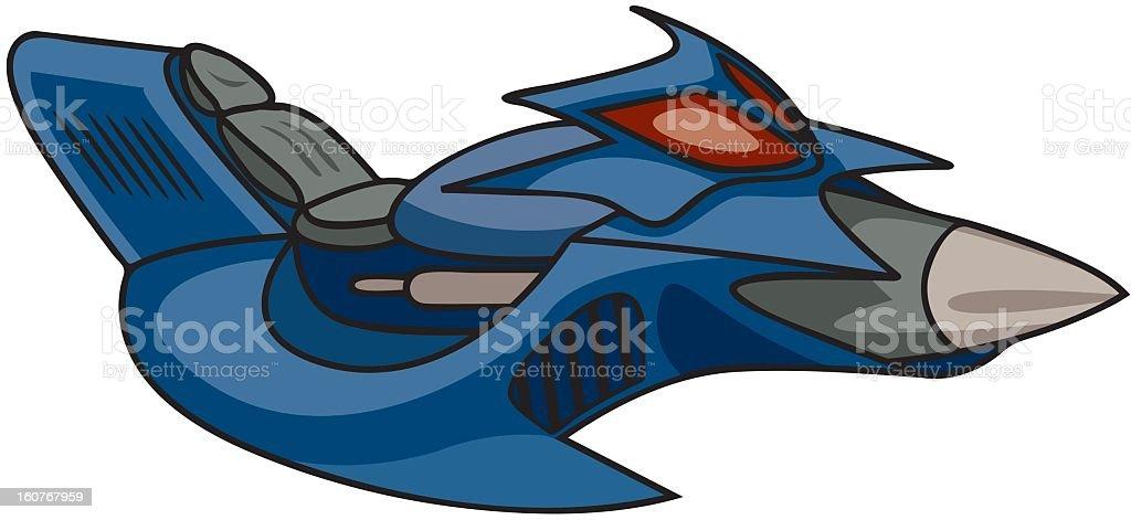 Spaceship royalty-free stock vector art