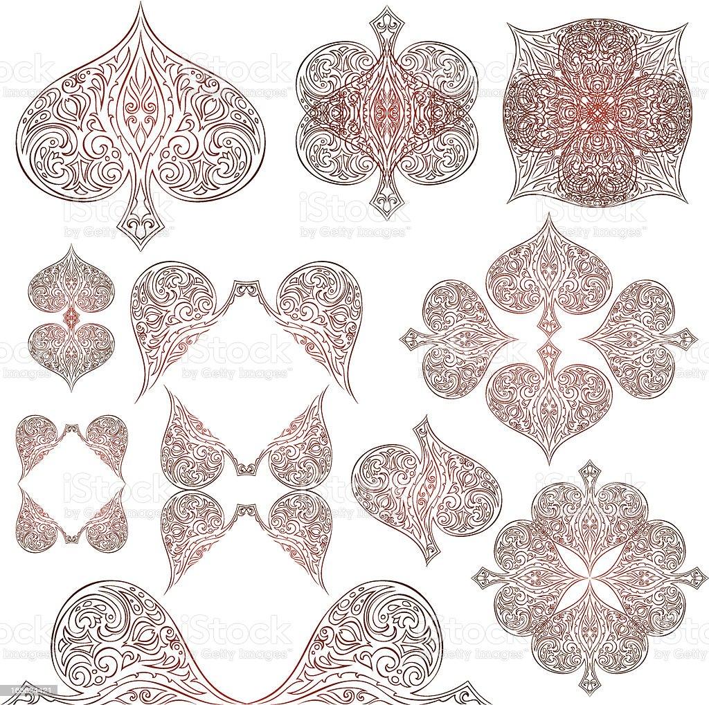 spade elements royalty-free stock vector art