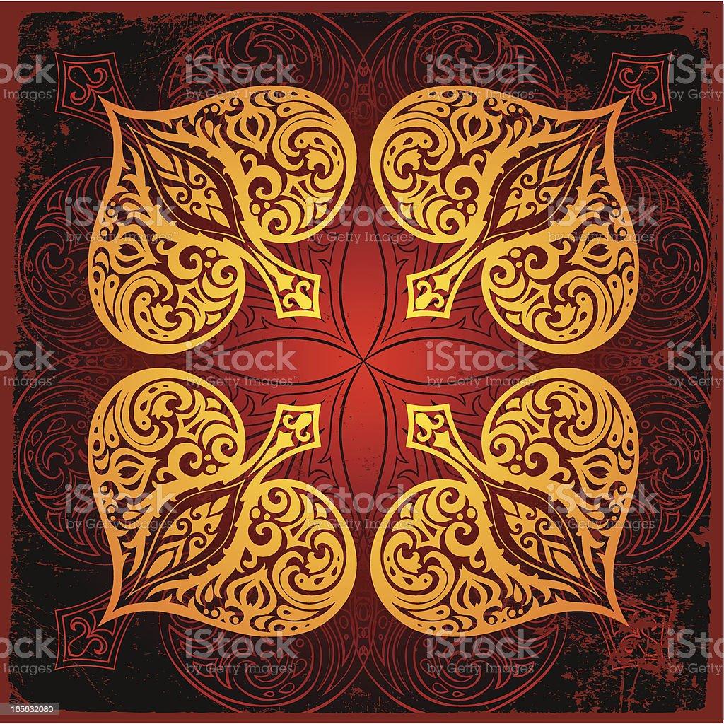 spade mandala royalty-free stock vector art