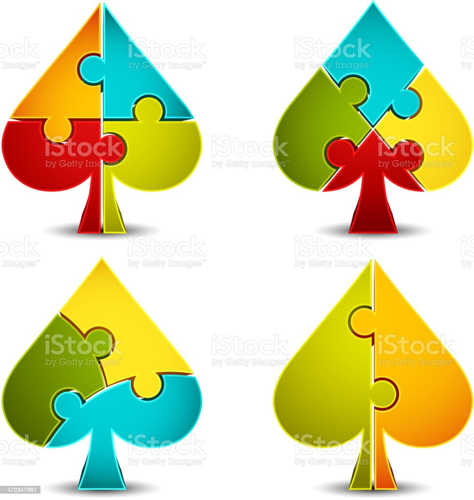 Spade suit icons royalty-free stock vector art