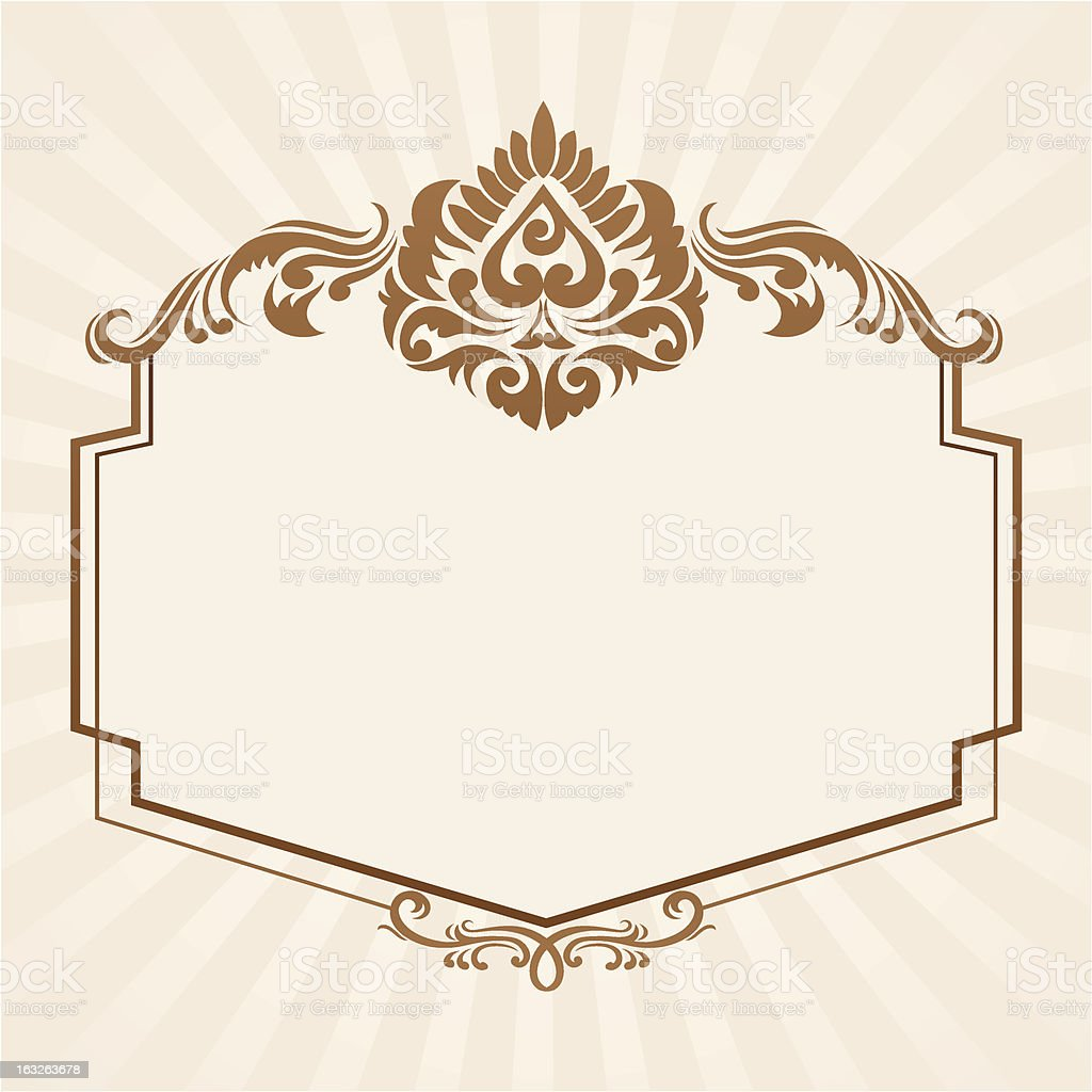 Spades Ornament Frame royalty-free stock vector art