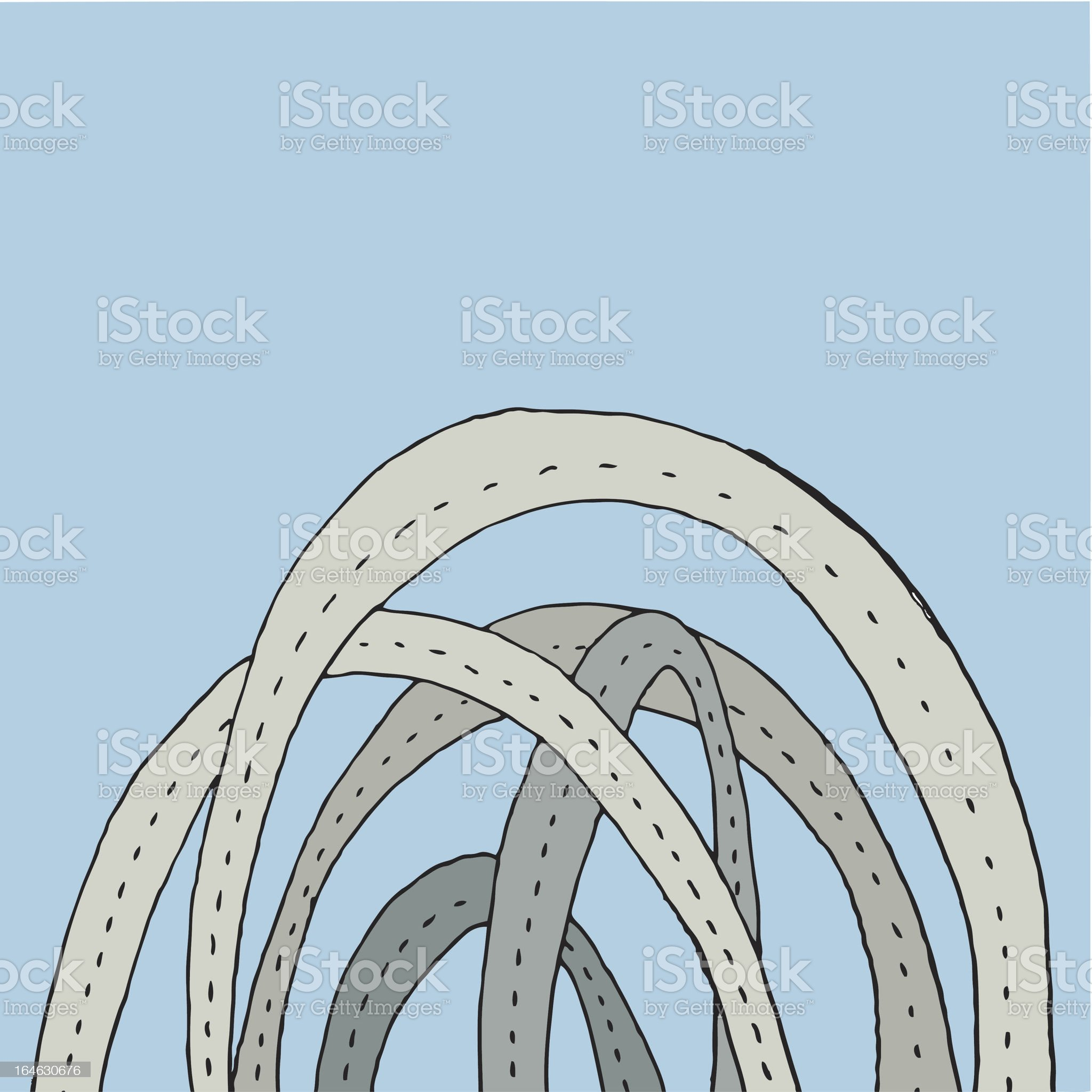 spaghetti junction royalty-free stock vector art