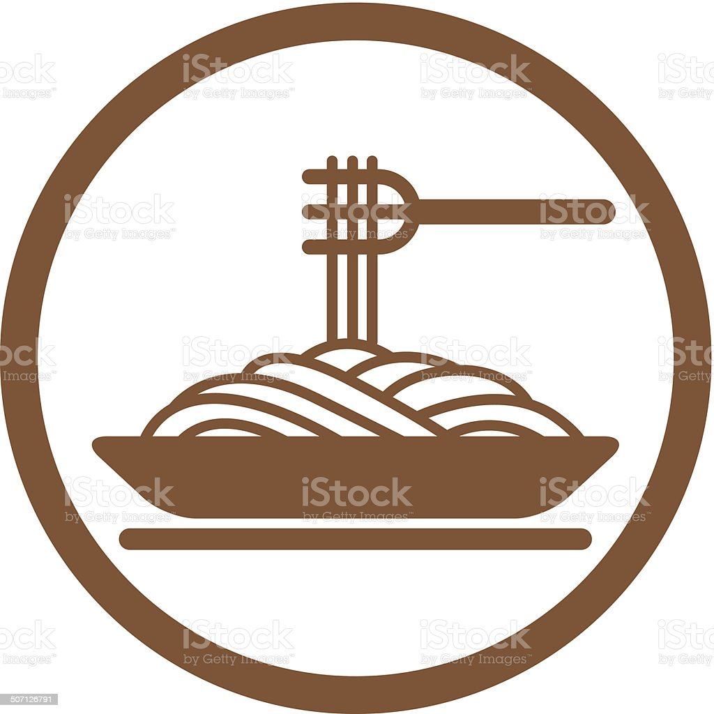 Spaghetti vector icon. royalty-free stock vector art