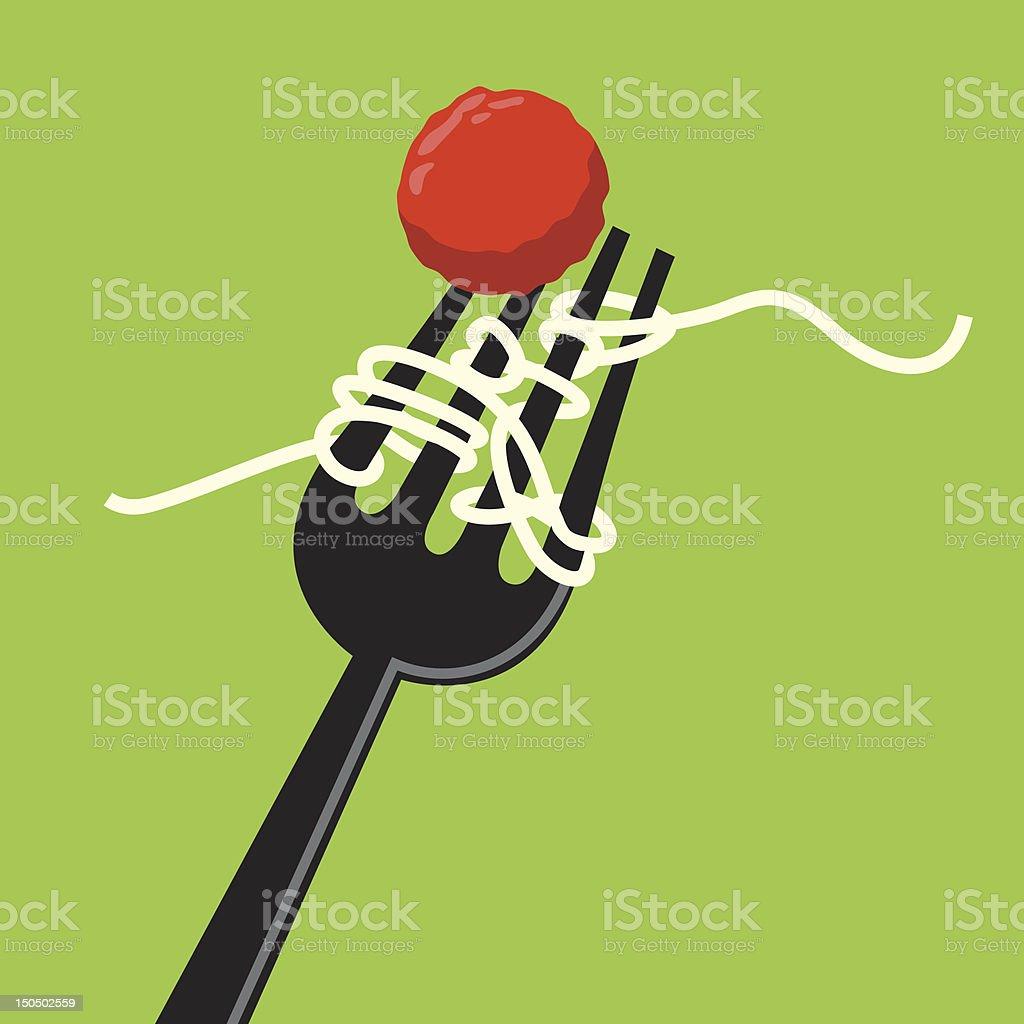 Spaghetti vector art illustration