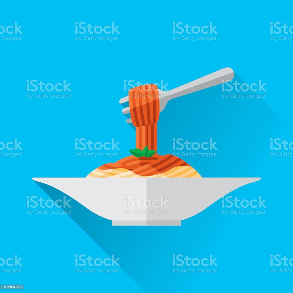 Spaghetti vector art illustration