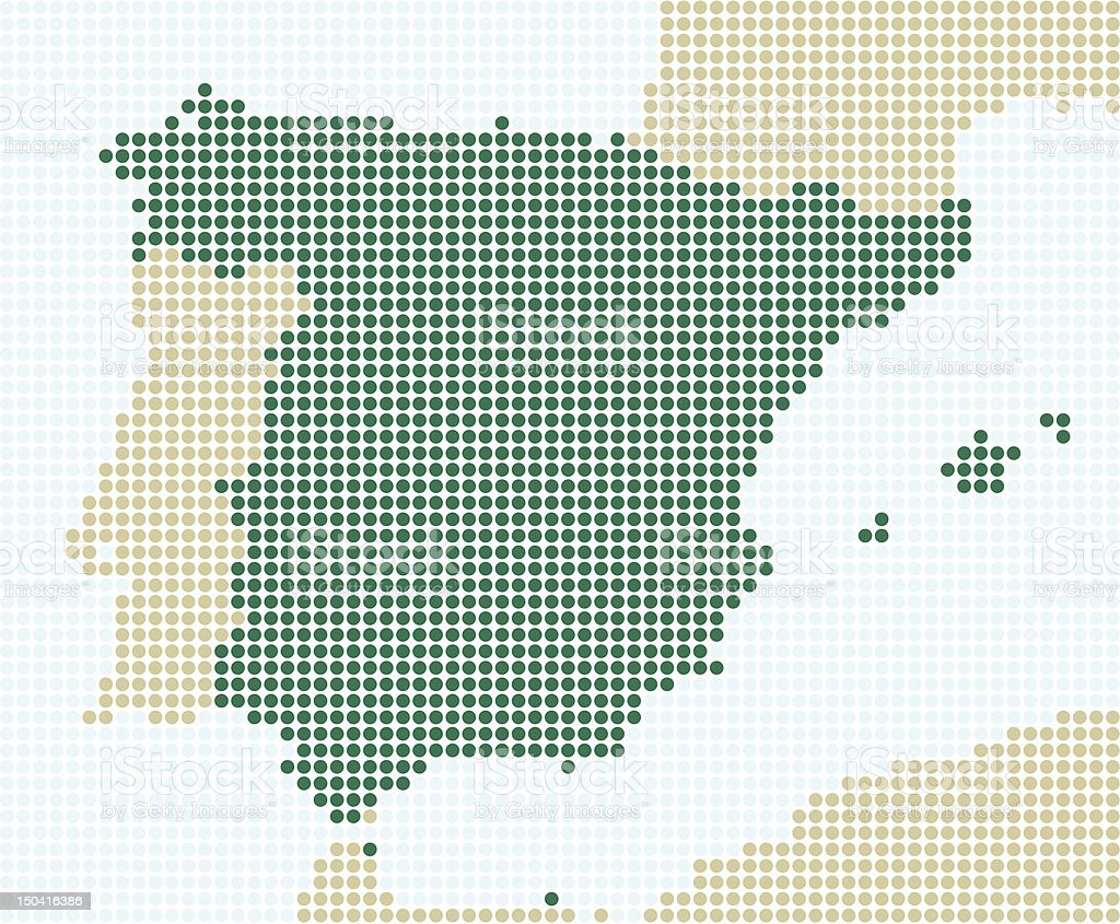 Spain - 1 point = 20 km royalty-free stock vector art