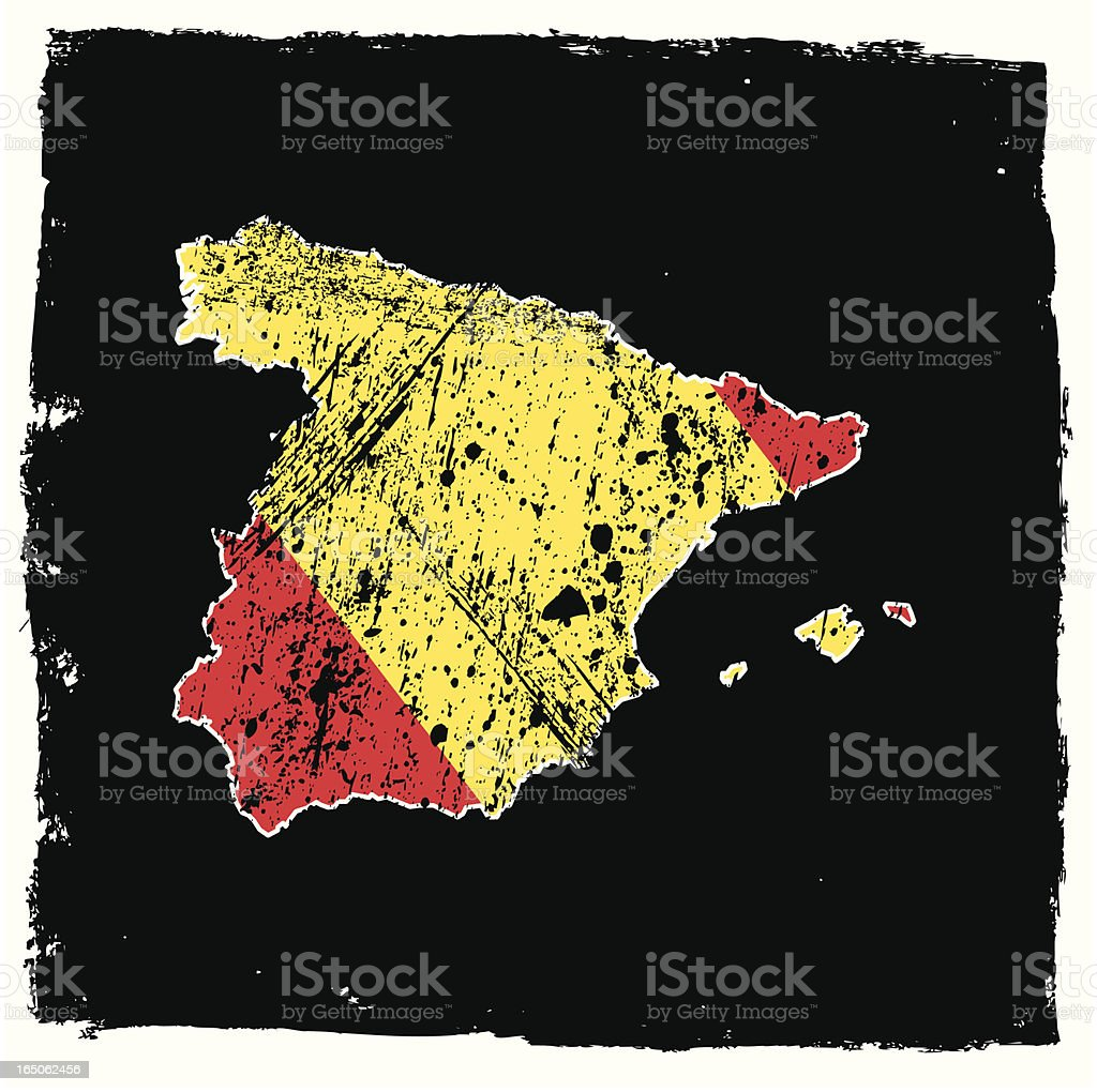 Spain Abstract Grunge Series royalty-free stock vector art