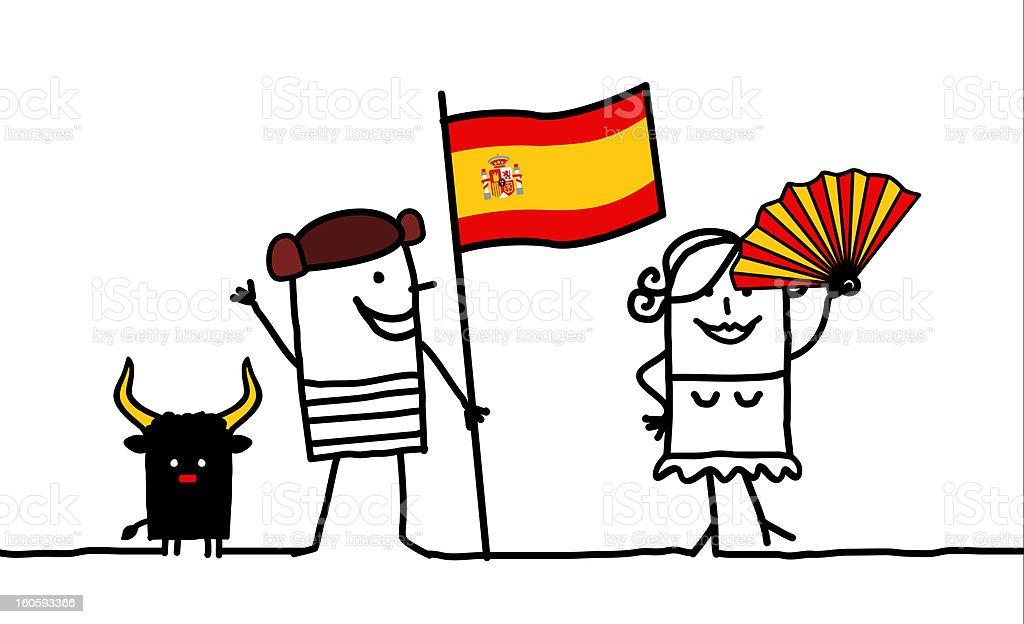 Spain & spanish people royalty-free stock vector art