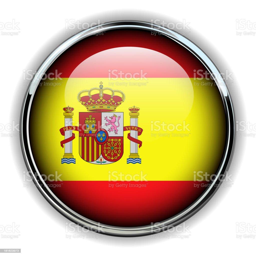 Spain button vector art illustration