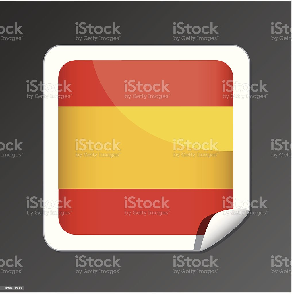 Spain flag button royalty-free stock vector art
