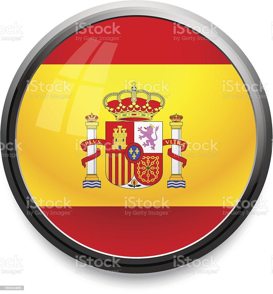 Spain - flag icon royalty-free stock vector art