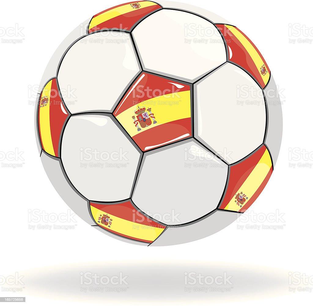 Spain Flag Soccer Ball royalty-free stock vector art