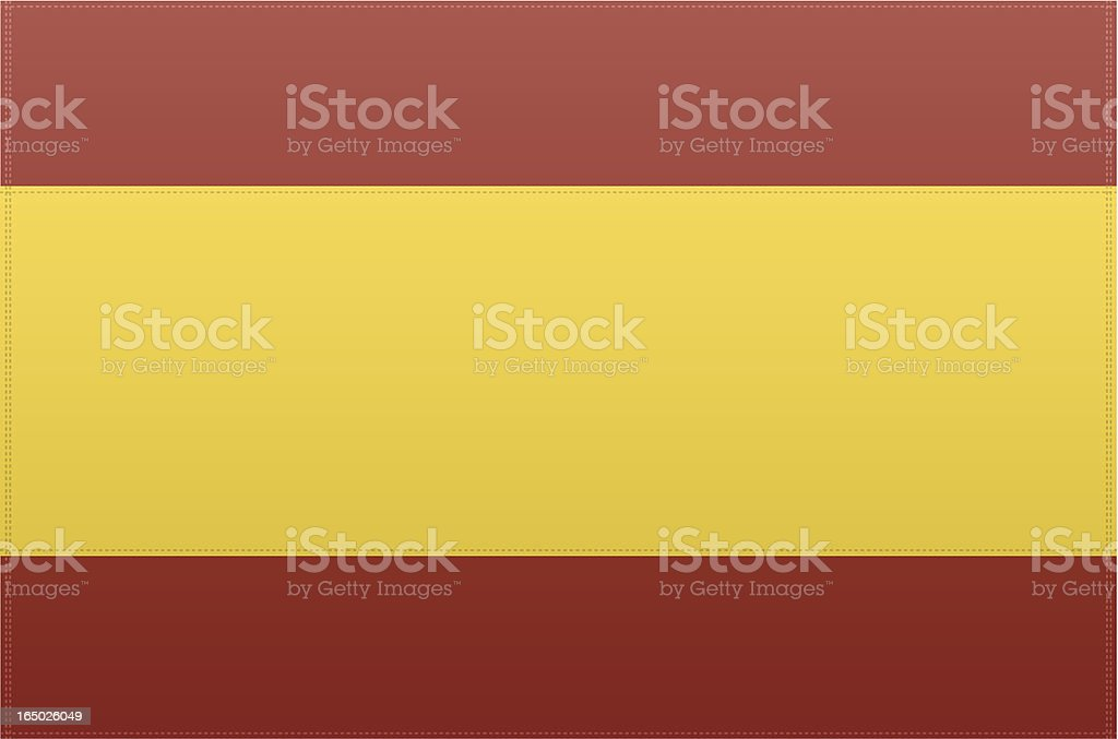 Spain Flag (Vector) vector art illustration
