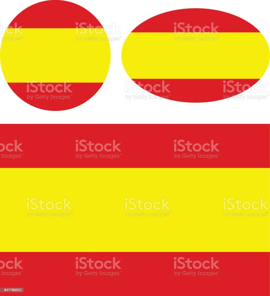 Spain flags vector art illustration
