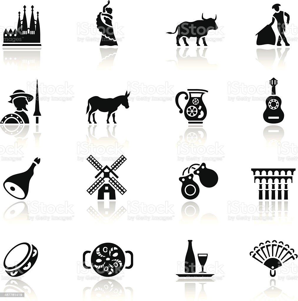 Spain Icon Set vector art illustration