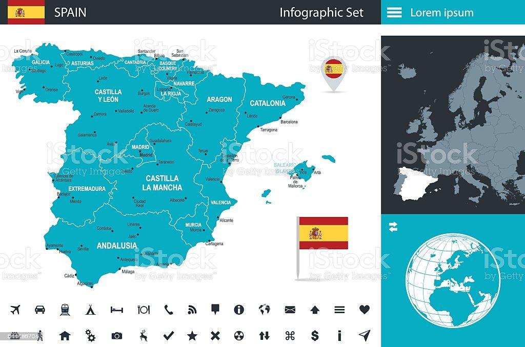 Spain - infographic map - Illustration vector art illustration