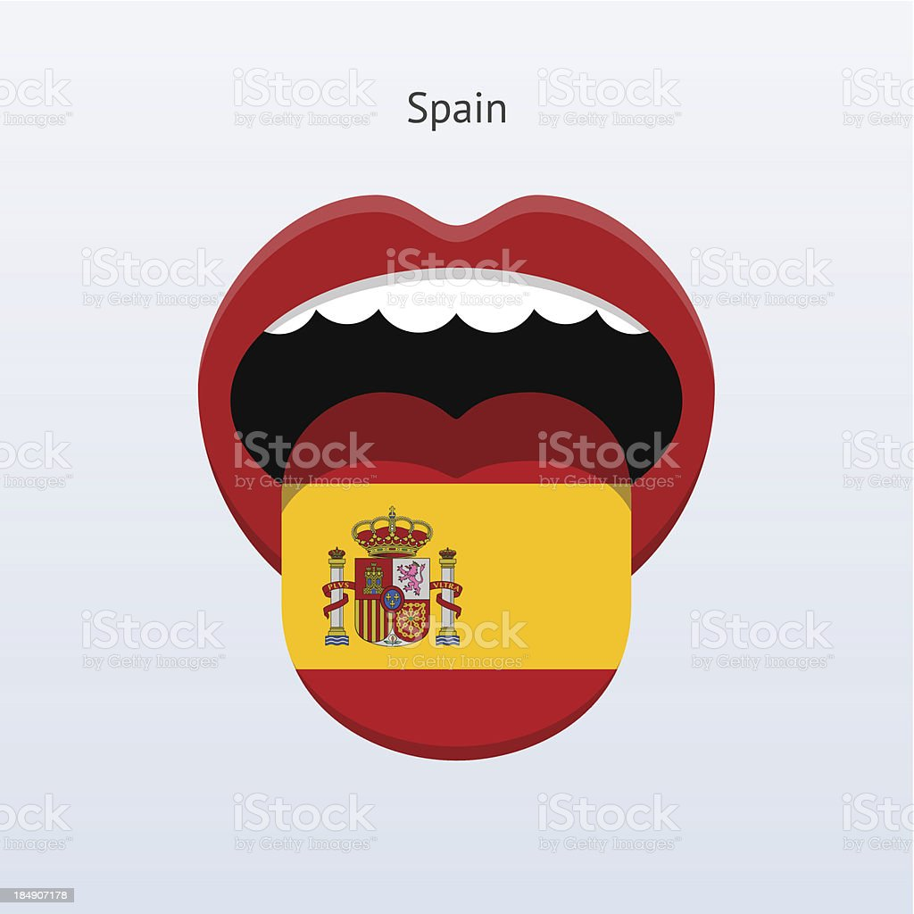 Spain language. Abstract human tongue. royalty-free stock vector art