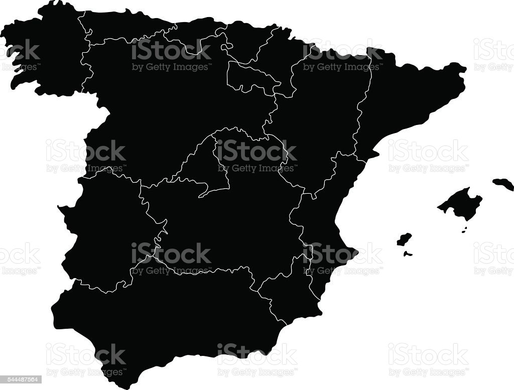 Spain Map vector art illustration