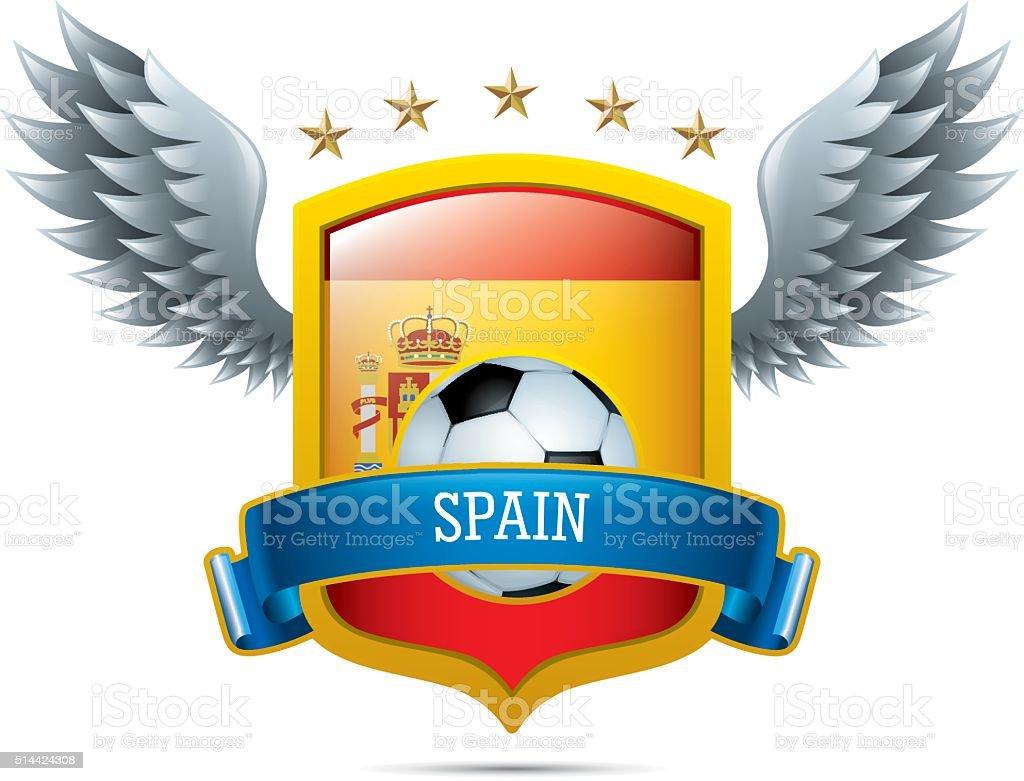 Spain Soccer Icon vector art illustration