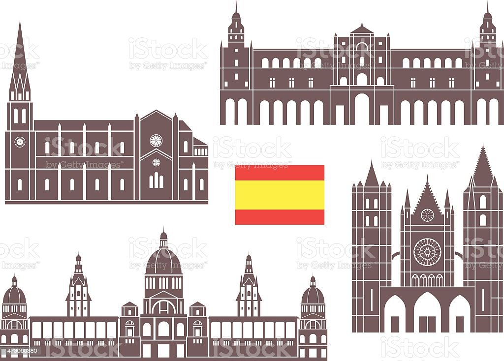 Spain vector art illustration