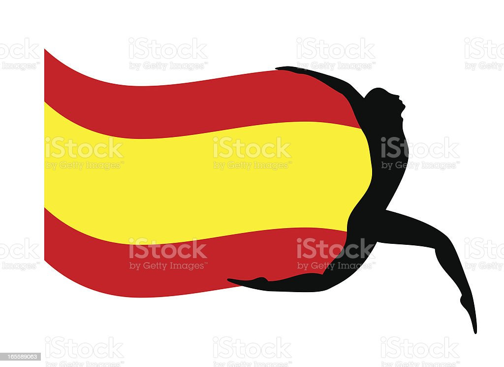 Spain?s flag royalty-free stock vector art