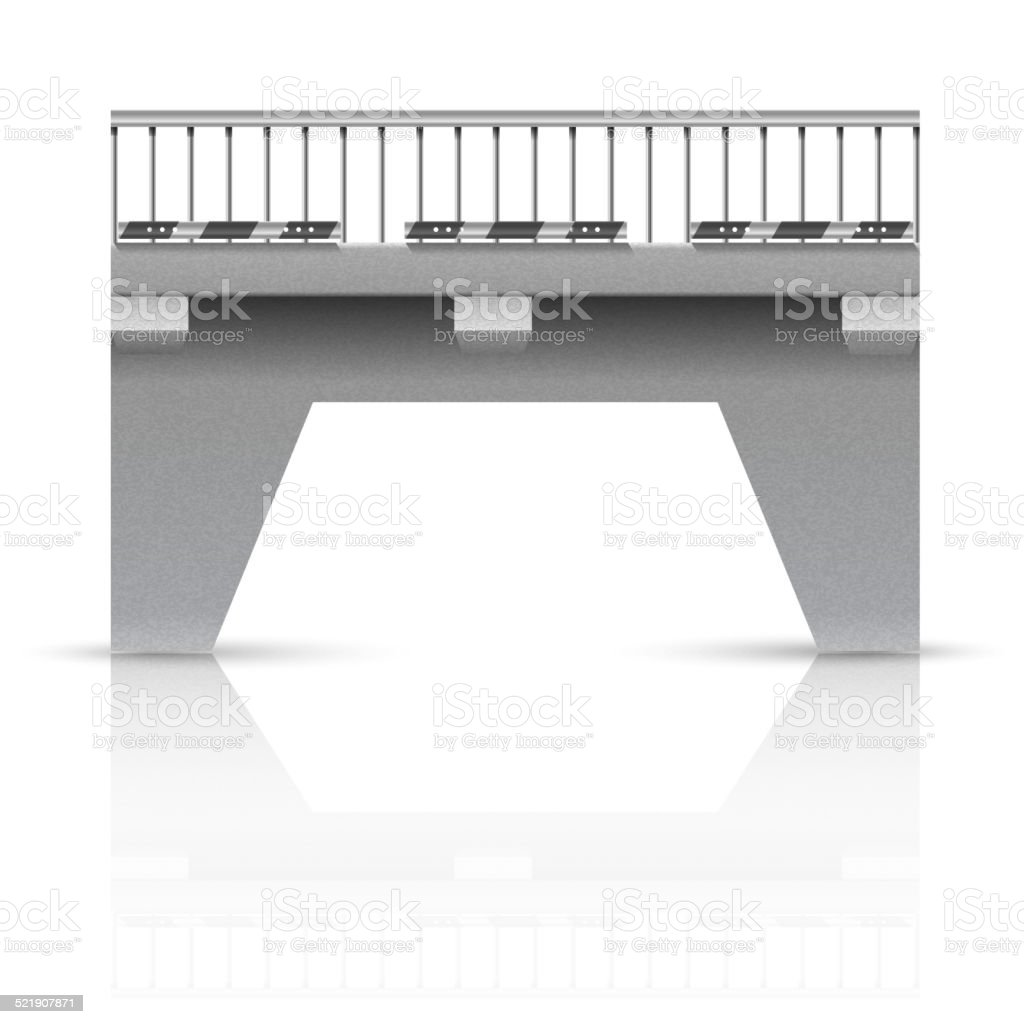 Span bridge vector art illustration
